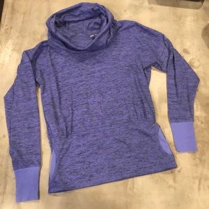 Athleta purple cowlneck pullover shirt top knit S